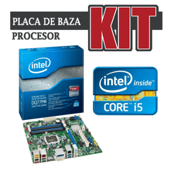 KIT Placa de baza Intel DQ77MK+Core i5-2400+Cooler