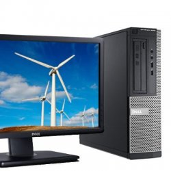 Pachet Business Dell Optiplex 3010 DT, I5-3470s, 8GB, 128GB ssd, LED P2012h