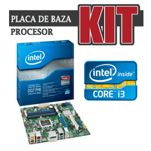 KIT Placa de baza Intel DQ77MK+Core i3-3220+Cooler