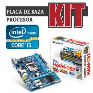 kit Gigabyte GA-H61M-DS2 cpu Core i5 2500K