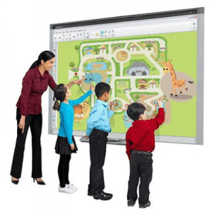 Tabla interactiva SMART SBX885, 221 cm, multitouch 4 utilizatori