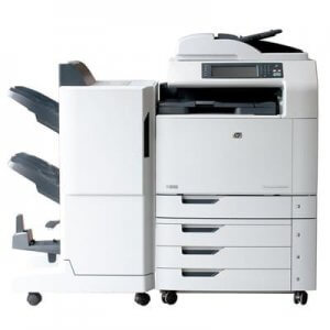 Multifunctionala second hand A3 HP Color LaserJet CM6040 MFP cu cartuse incarcate 100%