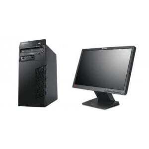 Pachet Calculator Lenovo Thinkcentre M71 Tower Core i5-2400, 8Gb ddr3, 128GB SSD + Monitor Lenovo L197WA