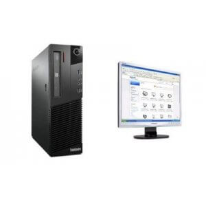 Pachet Calculator Lenovo Thinkcentre M82 DT Core i3-3240, 4Gb ddr3, 500GB HDD + Monitor Philips 19s