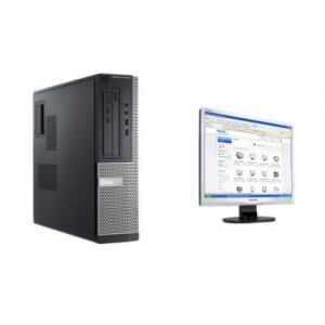 Pachet Calculator Dell Optiplex 3020 DT Core i3-4130, 4Gb ddr3, 500Gb HDD + monitor Philips 19s