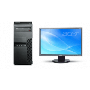 Pachet Calculator Lenovo Thinkcentre M82 Tower Core i3-3240, 4Gb ddr3, 500GB HDD + Monitor Acer 193W