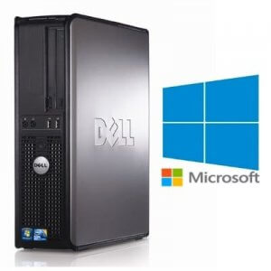 Calculatoare Refurbished Dell Optiplex 380 SFF Core 2 Quad Q6600, 8GB ddr3, 250GB, Windows 10 Home