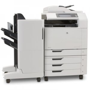 HP Color LaserJet CM6030f finisher