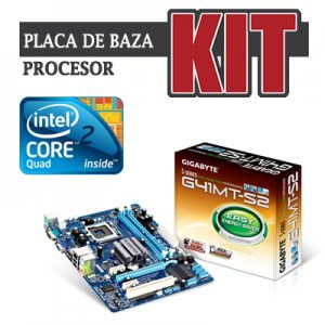 kit Gigabyte GA-G41MT-S2, cpu Core 2 Quad Q6600