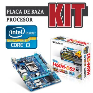 kit Gigabyte GA-H61M-DS2, cpu Core i3 2100