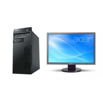 Pachet Calculator Lenovo Thinkcentre M71 Tower Core i5-2400, 4Gb ddr3, 500GB HDD + Monitor Acer 193W