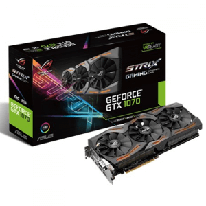 Placa video second hand Asus ROG STRIX-GTX1070-O8G-GAMING 8GB DDR5