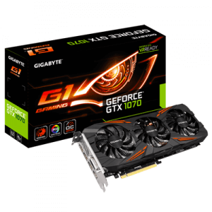 Placa video second hand GIgabyte GeForce GTX 1070 G1 Gaming 8G